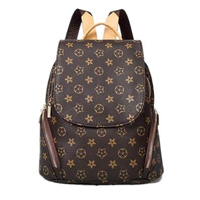 d33005558a96 Amazon.com  RuRu Monkey Fashion Leather Backpack Purse Mini Shoulder Bag  Rucksack PU Leather Women Girls Ladies Backpack Travel bag  Shoes
