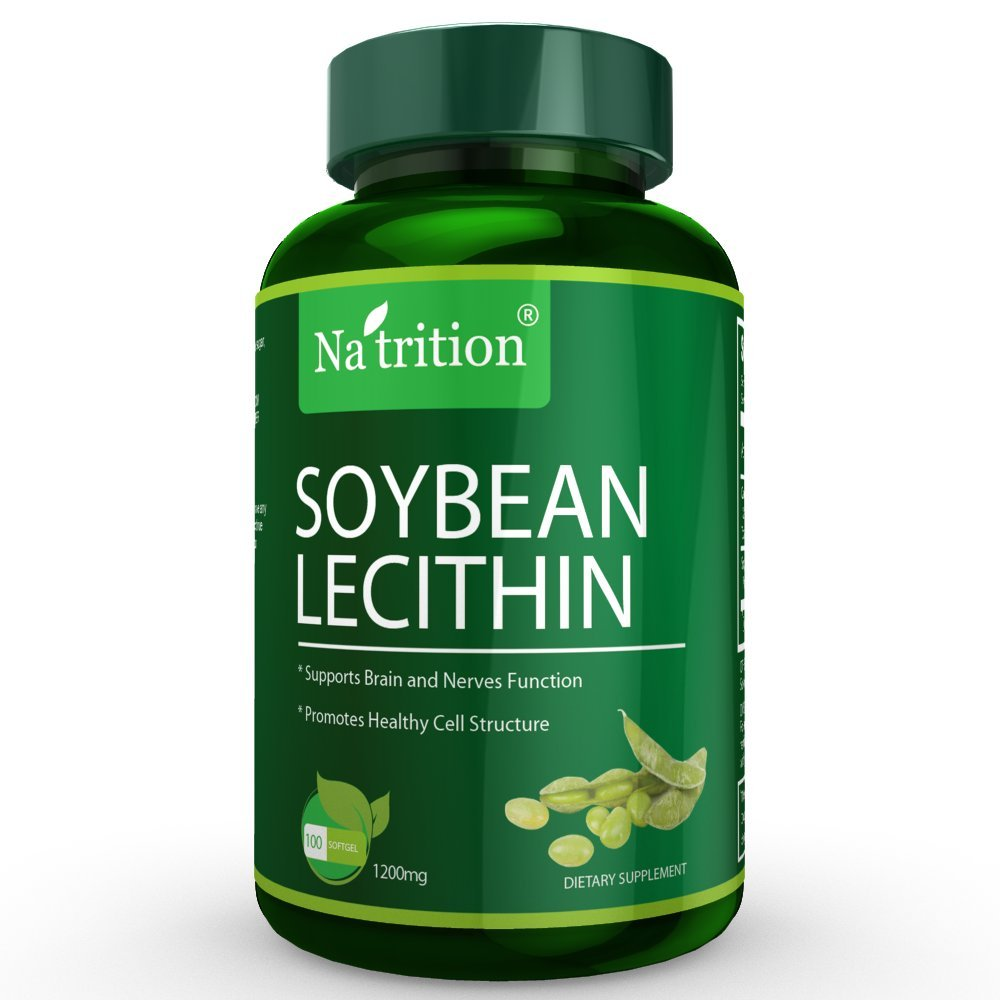 3 Bottles of Soybean Lecithin Softgels, 1200mg per softgel, 100 Softgels/ Bottle, Total 300 Softgels by Na'trition (Image #4)