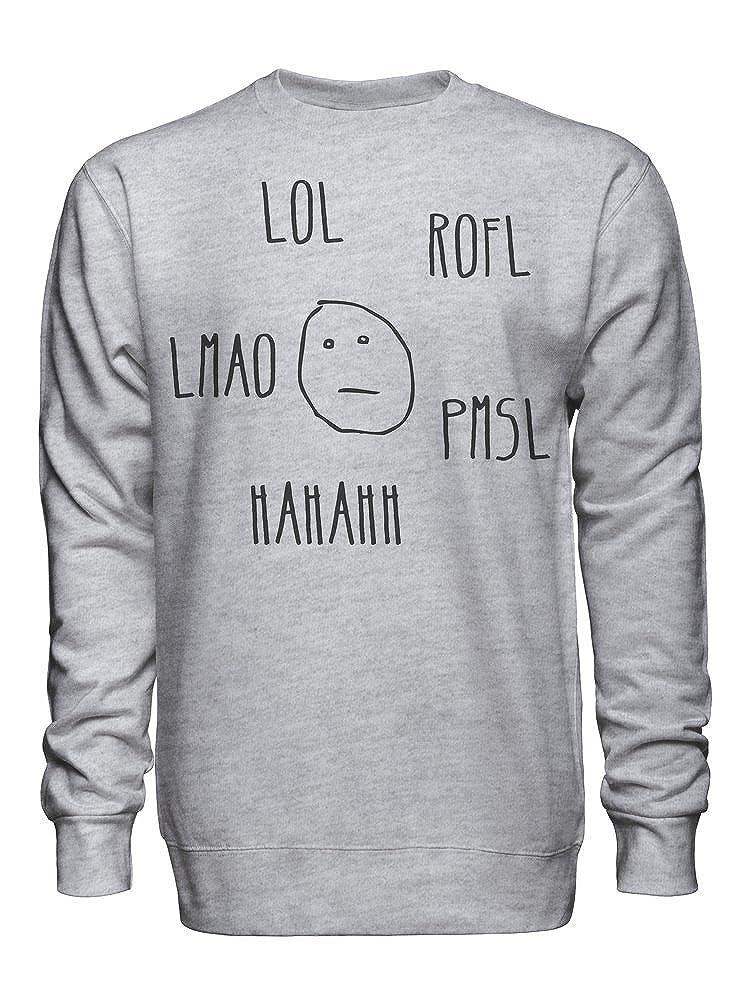 LOL ROFL graphke Poker Face Hahaha Unisex Crew Neck Sweatshirt