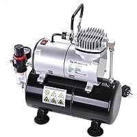 Yescom 1/6HP Air Compressor with 3L Tank Pressure Regulator Spray Gun Air Brush