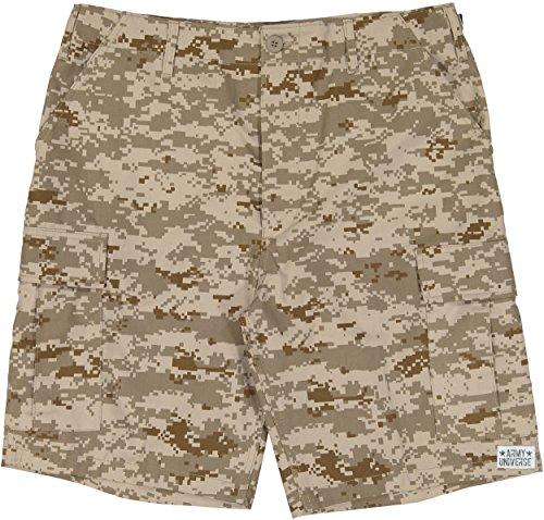 "Army Universe Desert Digital Camouflage Military BDU Cargo Shorts Pin Size X-Large (Waist 39-43"")"