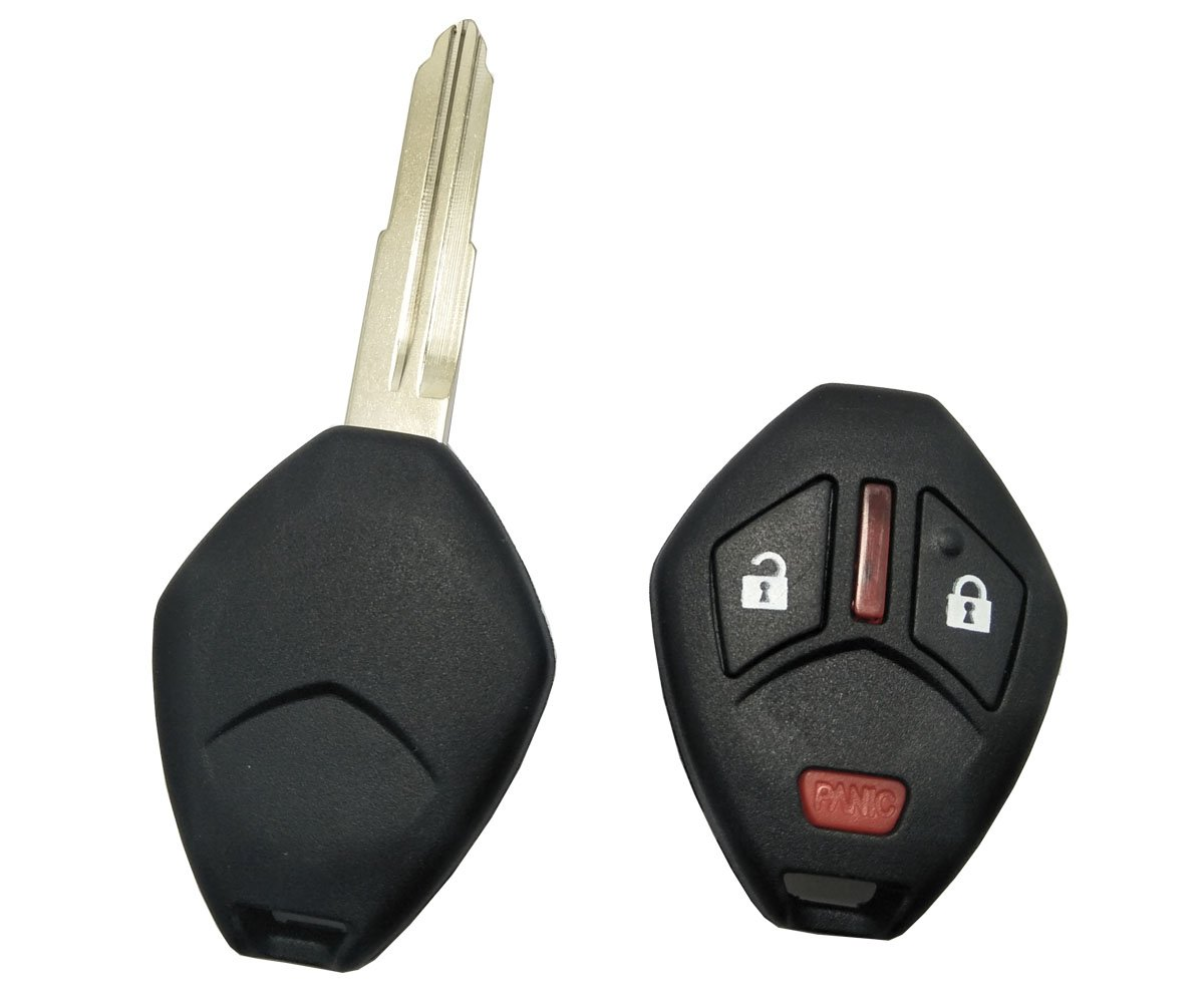 Replacement Keyless Entry Remote Control Key Fob Case For Mitsubishi Eclipse Lancer Endeavor Galant Outlander Key Fob Shell Cover Horande