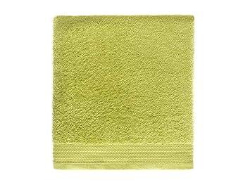 Rizo Basic - Pack de 3 Piezas Toalla Tocador, Lavabo y Ducha Liso CARDADO - Color Lima: Amazon.es: Hogar