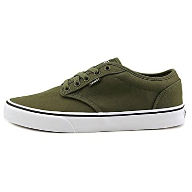 54d2897355 Image Unavailable. Image not available for. Color  Vans Atwood Canvas Ivy  Green White Mens Fahion Sneaker