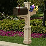 Westbrook Plus Mailbox Post in Clay Finish