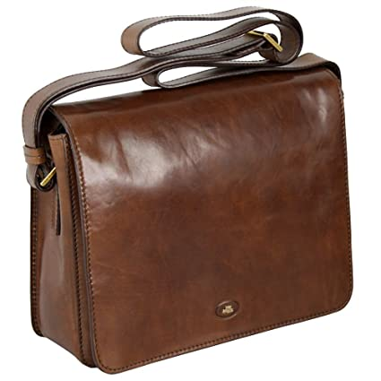 2111defa2a6 The Bridge Messenger Bag 05275701-14 Brown: Amazon.co.uk: Luggage