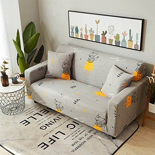 alibalala Stretch Couch Covers for Sofa, Slipcover for Living Room, Soft/Durable/Stay in Place, Sofa Cover Fit with 93