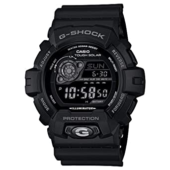 9fb73307c87d Image Unavailable. Image not available for. Color  Casio Men s GR8900A-1 G- Shock Tough Solar Digital Black Resin Sport Watch