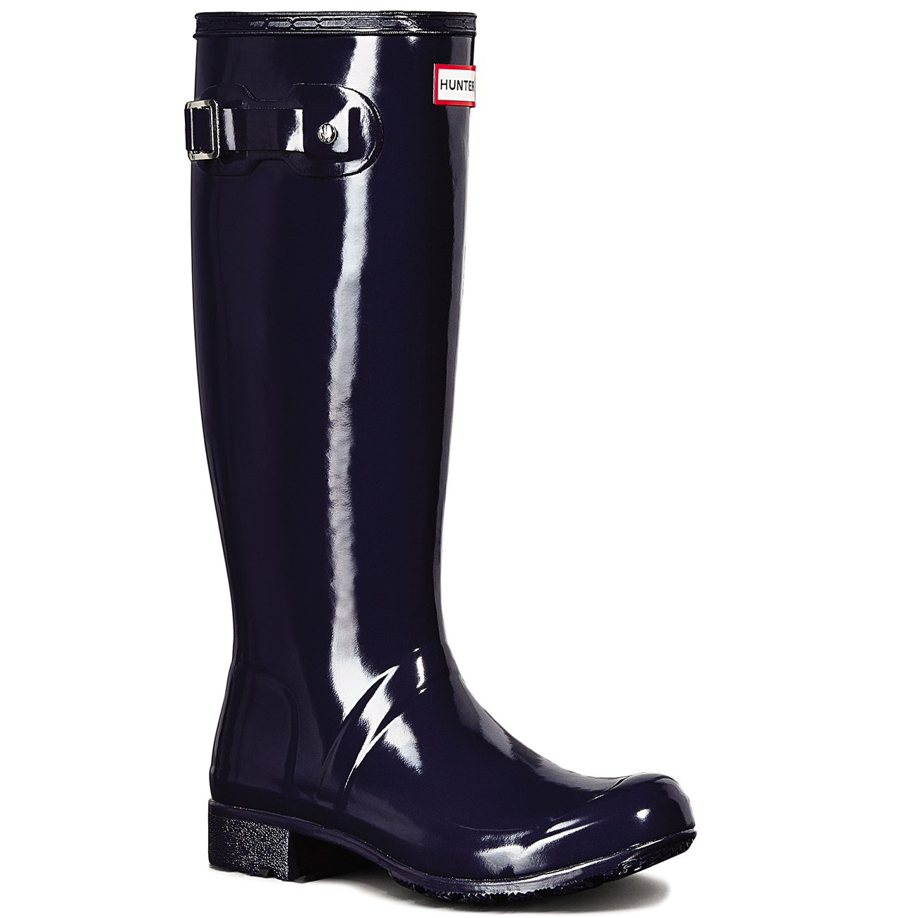 Hunter Womens Original Tour Gloss Waterproof Winter Snow Wellington Boot - Midnight - 9-40/41