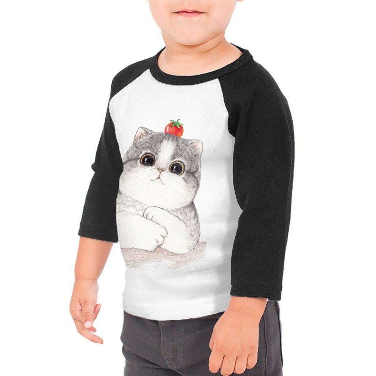 RhteGui AJR Boys /& Girls Junior Vintage Long Sleeve T-Shirt Black