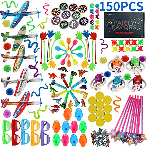 Best 150PCS Carnival Prizes for Kids Birthday Party Favors Prizes Box Toy Assortment for Classroom