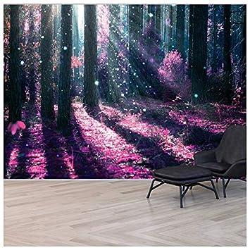 Amazon Com Azutura Enchanted Forest Wall Mural Purple Tree Photo
