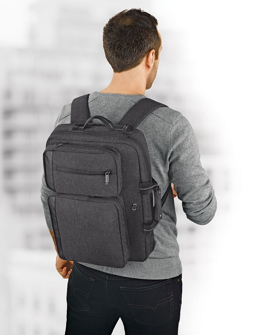 Solo Duane 15.6 Inch Laptop Hybrid Briefcase, Converts to Backpack, Grey by SOLO (Image #9)