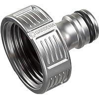 """GARDENA Premium kraanaansluiting 33,3 mm (G 1""""): Adapter voor waterkranen, hoogwaardig metaal, spatvrije waterstroom…"""