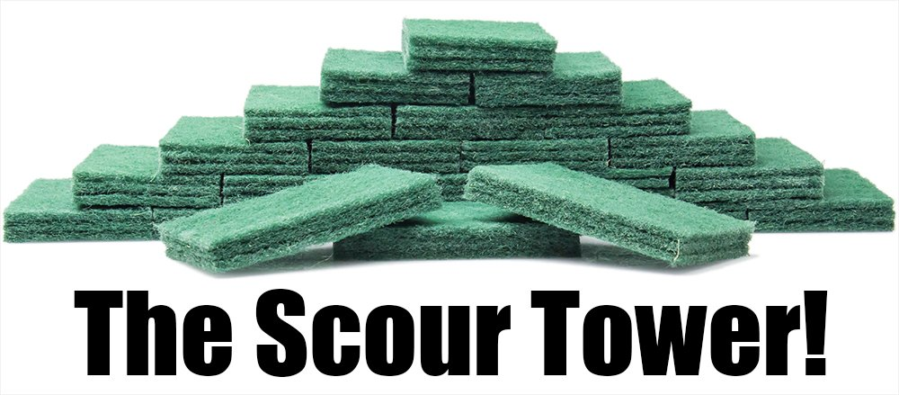 Heavy-Duty Scour Pad 60 Pack: High Abrasive Rating for Intense Scrubbing. 3.5 x 6. Best Used for Baked-On Messes. Restaurant & Commercial-Grade Scouring Pads. Bulk Wholesale Pack. by Avant Grub (Image #2)