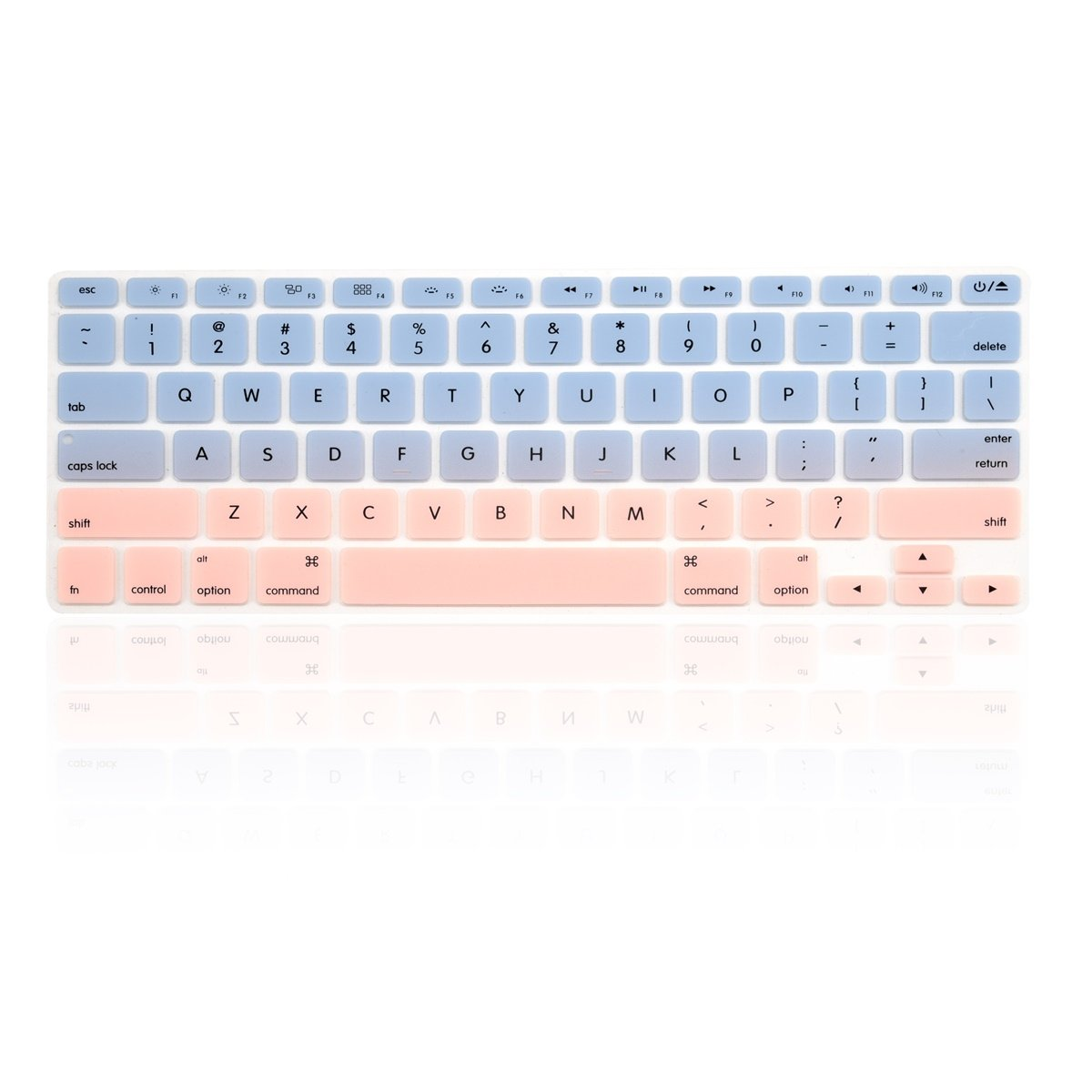 TOP CASE Faded Ombre Series Keyboard Cover Skin Compatible with MacBook 13 Unibody//Old Generation MacBook Pro 13 15 17//MacBook Air 13//Wireless Keyboard-Purple/&White