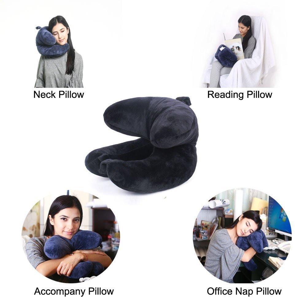 office nap pillow. WENDSIM PILLOW----3 In 1 Chin,Neck \u0026 Head Supporting Travel Pillow For Airplane Car Train(addtional Function Reading Office Nap Patent A