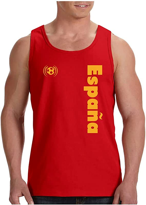 Green Turtle T-Shirts Camiseta de Tirantes Hombre - Apoya a la selección Española en el Mundial de Fútbol!: Amazon.es: Ropa y accesorios