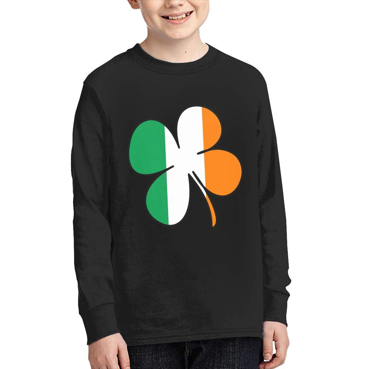 Teenagers Teen Girl Shamrock Ireland Flag Printed Long Sleeve 100/% Cotton Clothes