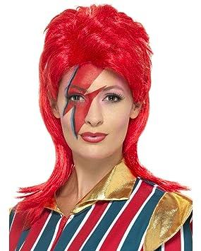 Horror-Shop peluca roja de neón 70 Stardust
