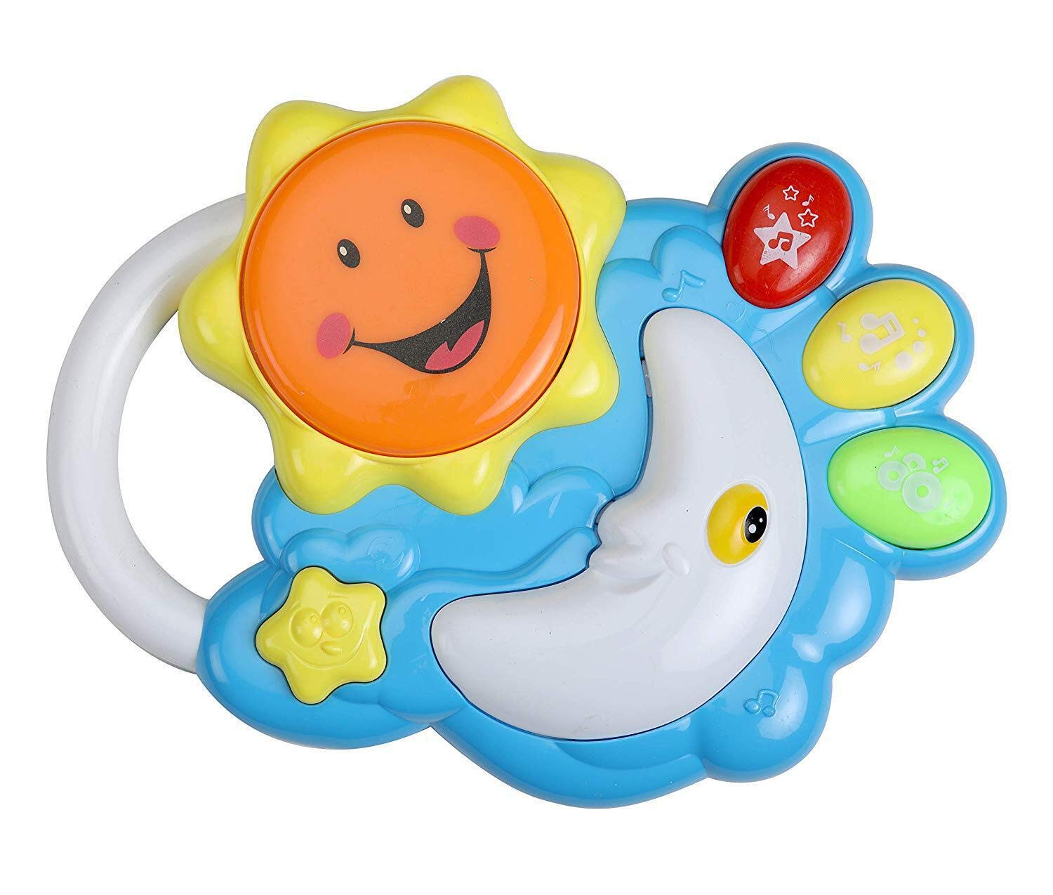 Luvlap - 18587 Sun, Moon Star Musical Drum and Keyboard for Baby, Multicolor