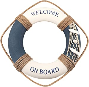 Nautical Lifering Nautical Decorative Life Ring Buoy Home Wall Door Hangings Decor 12.2