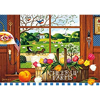 Buffalo Games - Charles Wysocki - A Peach of a Day - 300 Large Piece Jigsaw Puzzle