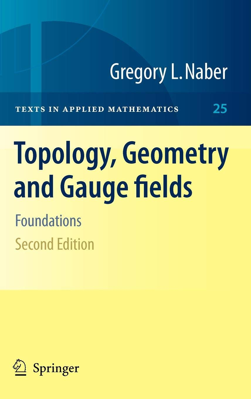 Topology, Geometry and Gauge fields: Foundations Hardcover – Sep 20 2010