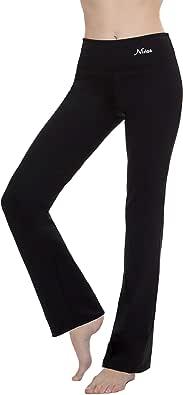 """Yoga Pants Women Best Black Leggings Straight Leg 28""""/30""""/32""""/34"""" Inseam Length Regular & Plus Size"""