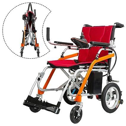 Plegable Inteligente Aleación De Magnesio Anciano Eléctrico Silla De Ruedas Discapacitado Scooter Llevar Ligero Batería De