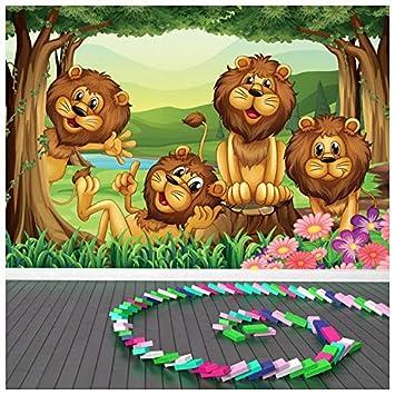 Azutura Netter Lowe Fototapete Dschungel Tiere Tapete Kinderzimmer