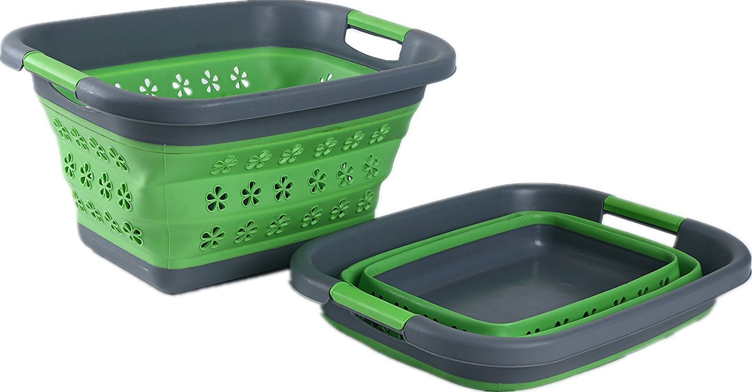 Collapsible Laundry Basket - Perfect for The Dorm Room, Kids Toys, Storage Container, Motorhome or Small Apartment Roaming Cooking