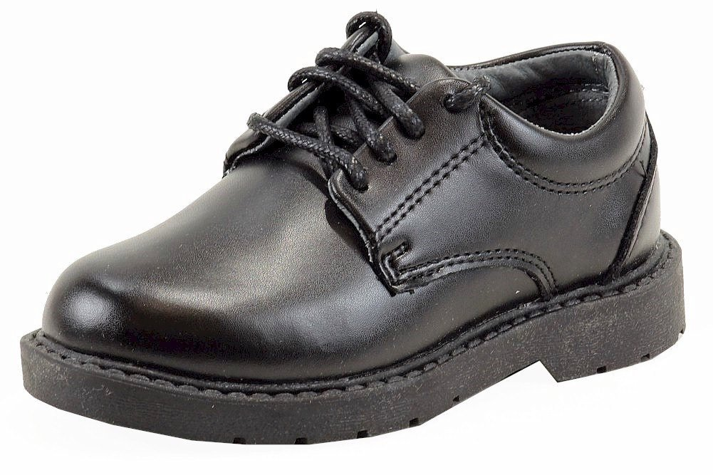 School Issue Scholar 5200 Uniform Shoe (Toddler/Little Kid/Big Kid),Black Leather,13.5 W US Little Kid