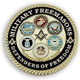 Military Masons Defenders of Freedom Round Masonic