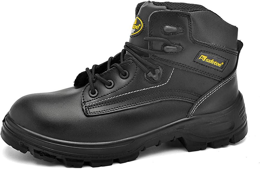 SAFETOE Work Safety Boots for Men & Women,Black Waterproof Composite Toe Work Boots Insulated Work Safety Shoes for Industrial Construction