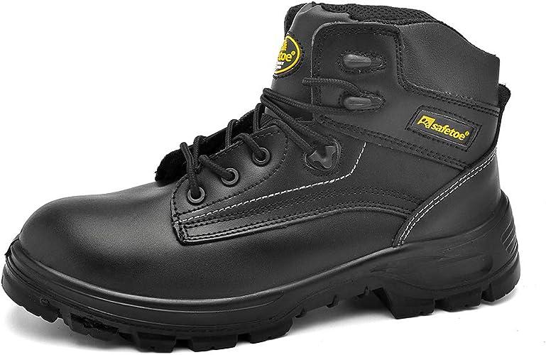 Botas de Seguridad Hombre Chelsea Sin Cortones CE S3-8025BR Zapatos de Seguridad con Puntera de Acero Impermeables: Amazon.es: Zapatos y complementos