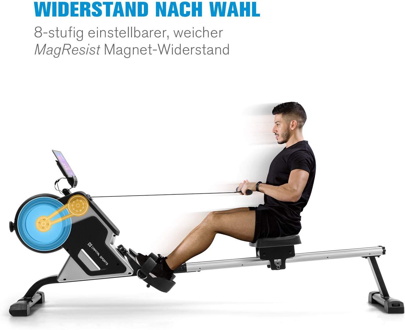 Capital Sports Stream M1 Rudergerät - Magnetwiderstand