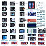 ELEGOO Upgraded 37 in 1 Sensor Modules Kit with Tutorial Compatible with Arduino IDE UNO R3 MEGA 2560 Nano
