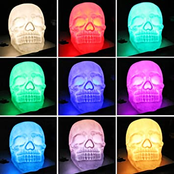 Colorful Skull Head Led Lamp