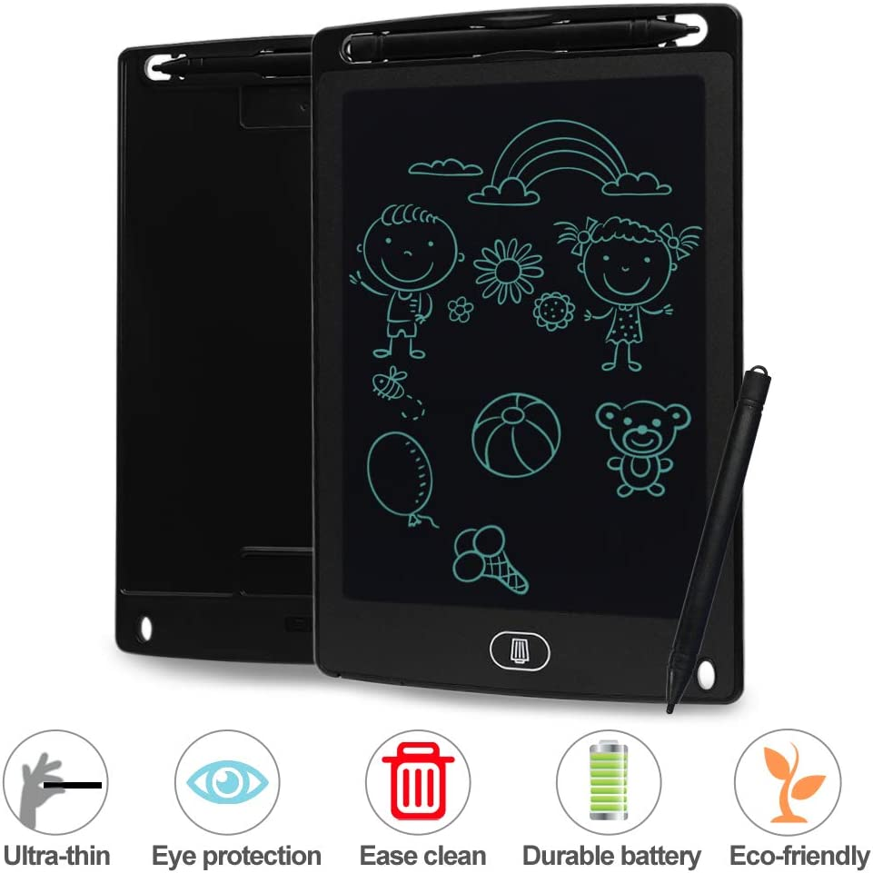 LCD Writing Tablet 8.5 Inch Portable eWriter Electronic Handwriting Drawing Doodle Board Graphics Tablet with Stylus Pen for Kids Gift