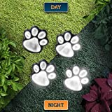 Solar Decorative Paw Print Garden Lights - Solar Powered Paws Home and Garden Walkway Lighting Outdoor Decor - Perfect Gift for Any Pet Dog Cat Lover