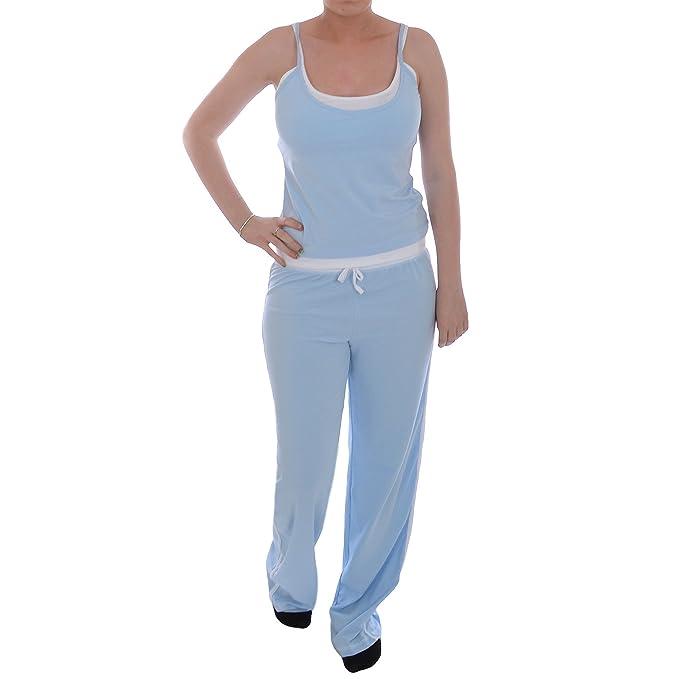New Look - pijama de Mujer - camiseta y pantalón largo - azul