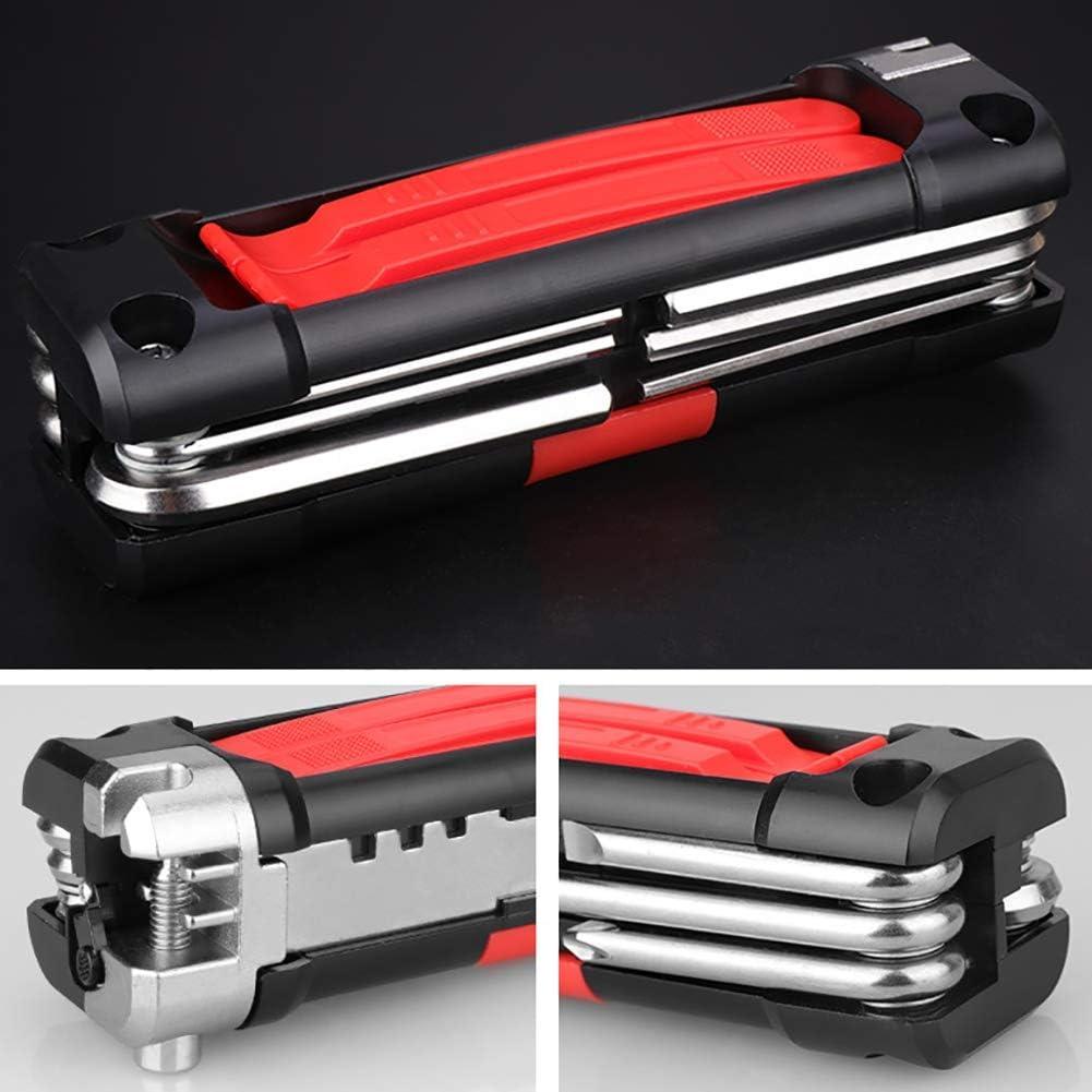 Reparaci/ón de bicicletas 14 en 1 Kit de herramientas Herramienta de mantenimiento de ciclismo fuerte de acero inoxidable completo Iswell Bicycle Multi Function Tool Set