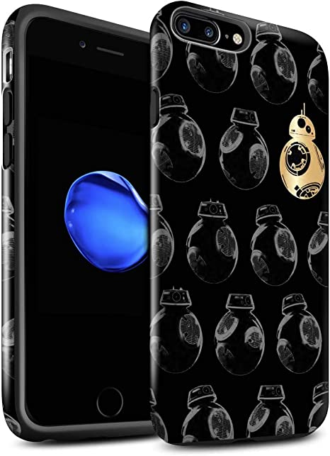 Gloss Phone Case For Apple Iphone 7 Plus Star Wars Wallpaper Bb Unit Droids Design Glossy Tough Shock Proof Bumper Cover Amazon Co Uk Computers Accessories