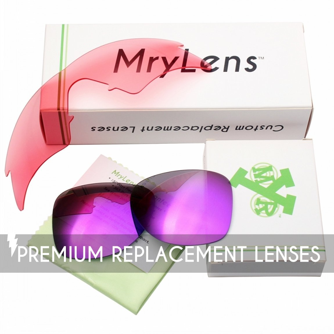 Mryok 2 Pair Polarized Replacement Lenses for Oakley Flak Jacket XLJ Sunglass - Options by Mryok (Image #5)