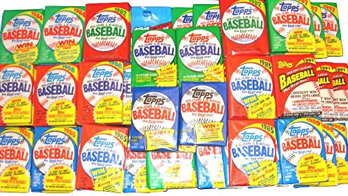 - 100 OLD VINTAGE TOPPS BASEBALL CARDS ~ SEALED WAX PACKS LOT!