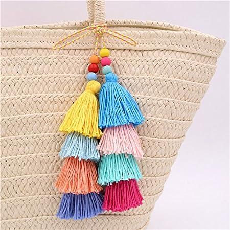 Charm Colorful Tassel PomPom Pendant DIY For Keychain Bag Handmade Accessories