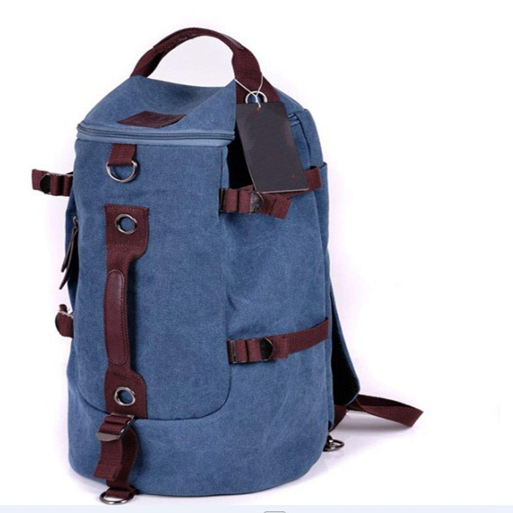 bluee DYR Computer Backpack Men and Women Canvas Backpack Three Travel Bag Shoulder Messenger Bag Mountaineering Bag Wholesale
