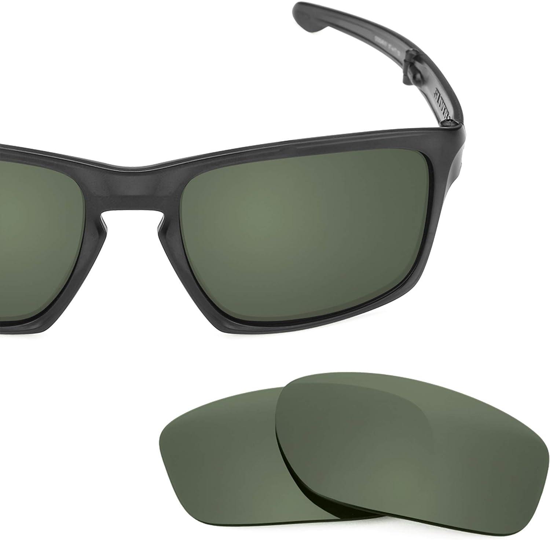 Revant Verres de Rechange pour Oakley Sliver F - Compatibles avec les Lunettes de Soleil Oakley Sliver F Gris Vert - Non Polarisés