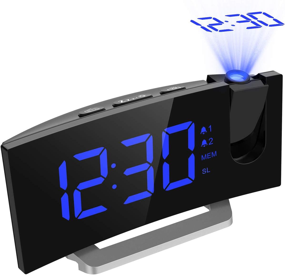 Mpow Radio Despertador Digital, Despertador Proyector con Alarma ...
